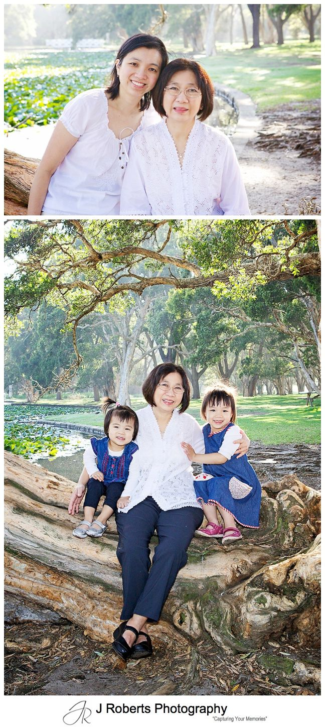 Extended Family and Multi Generation Family Portrait Photography Sydney Centennial Park Sydney